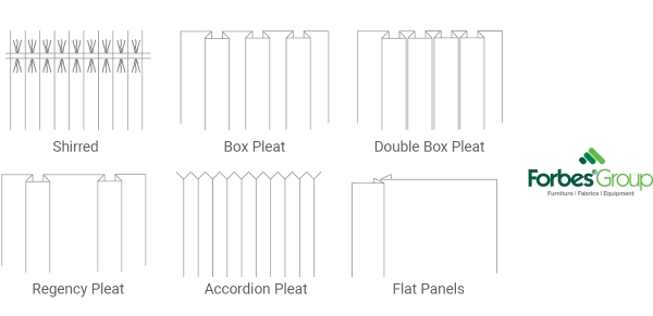 types of table skirting pleats