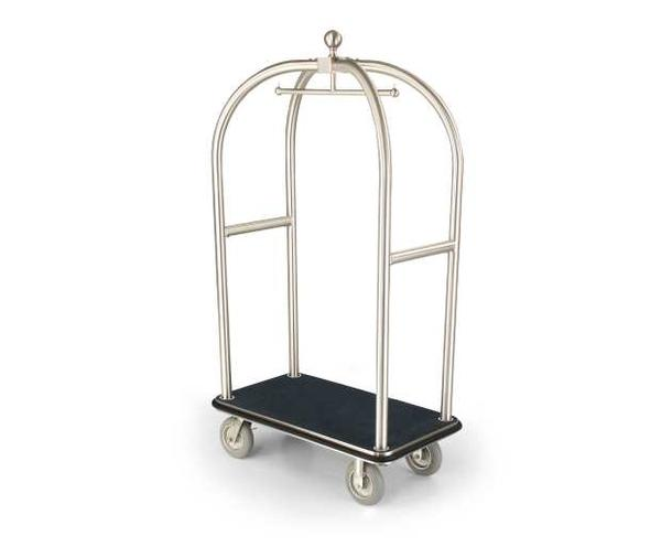 2526-SS Birdcage Luggage Cart