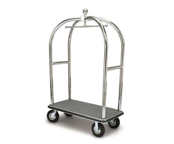 2528-SS Birdcage Luggage Cart