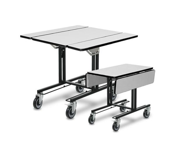 Bi-fold Room Service Table with hot box rails 4971