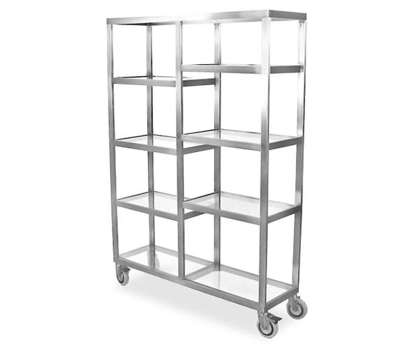 Portable mobile back bar in stainless steel