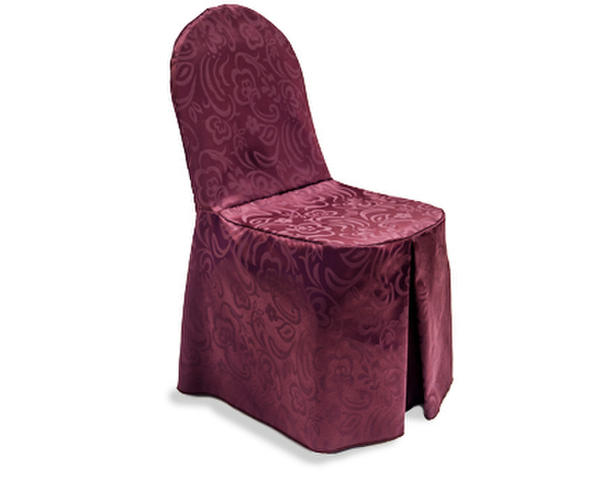 Elegance chair cover with front pleat