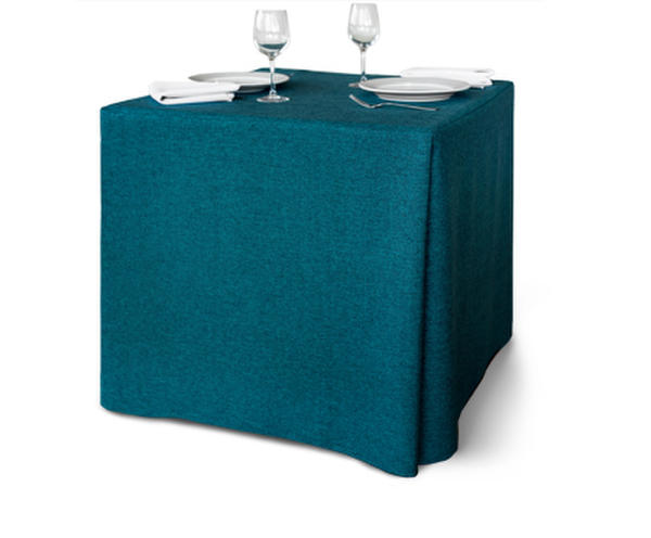 Square Table with Contemporary Table Cover