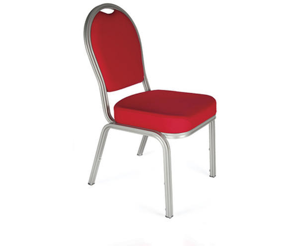 Red stackable banquet chair (lightweight aluminium)