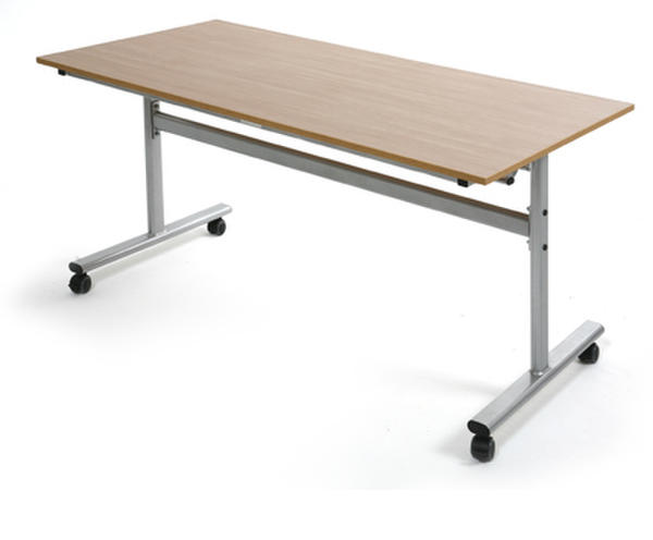 Steel frame flip top table