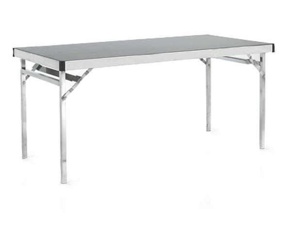 Folding Trestle Table with flocked top