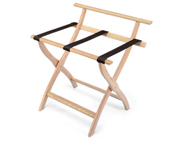 Folding hotel luggage rack 902 Oak