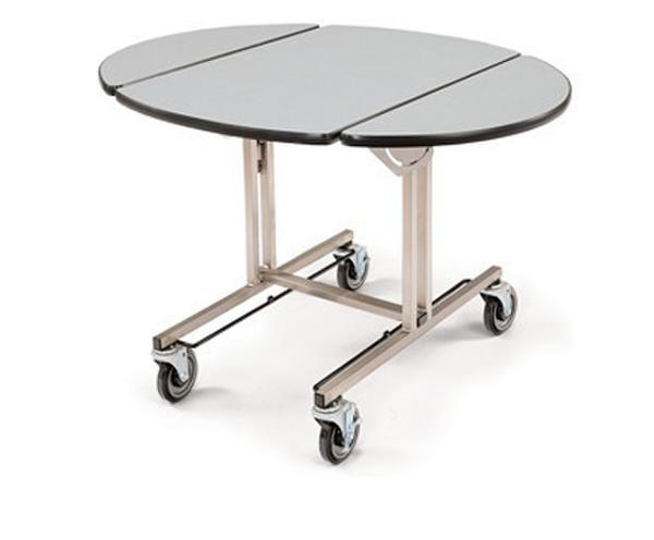 Tri-fold Room Service Trolley with hot box rails 4960