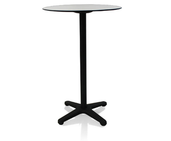 Tall poseur table with black base (Calvados)