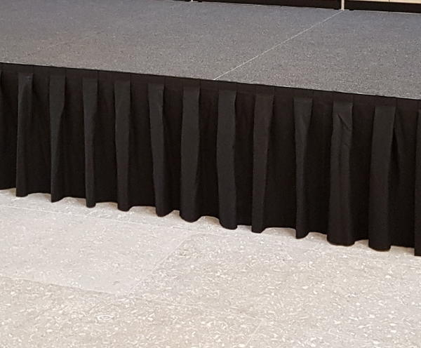 Black Box Pleat Portable Stage Skirting