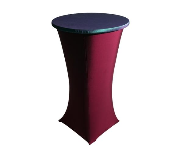 Silcra Cocktail Table Cover with contrast fabric lid (sold separately)