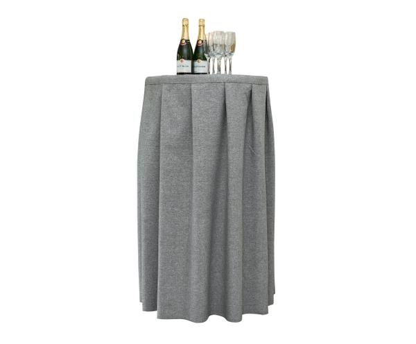 Contemporary Cocktail Table Cover in Ash Lyric fabric