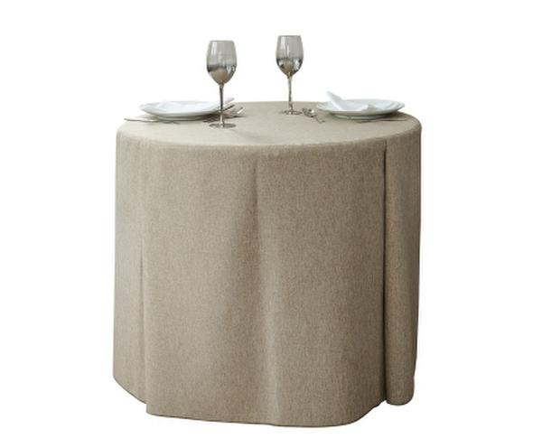 Round Table with Contemporary Table Cover with a gusset