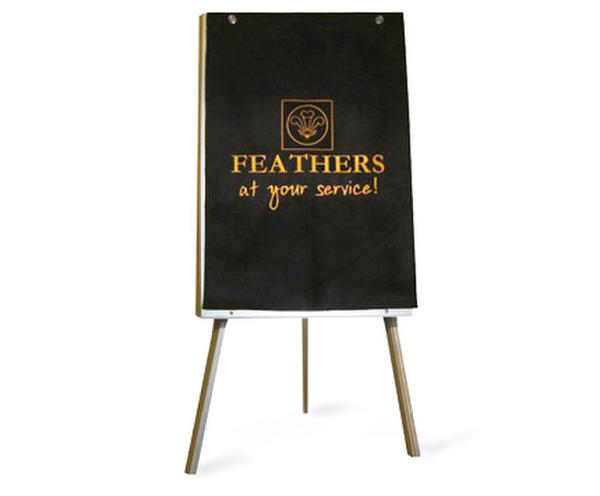 Branded black flipchart cover