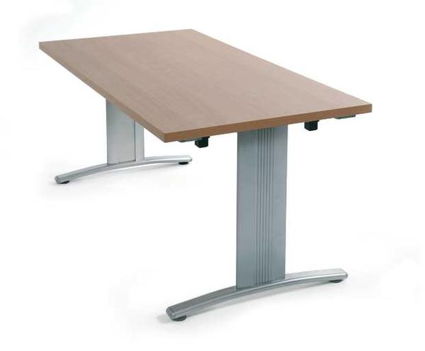 Folding boardroom table