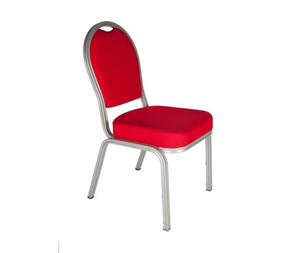 Red stacking conference room chairs