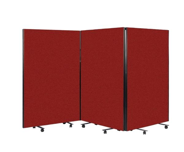 Room Divider Screen - Rust Red