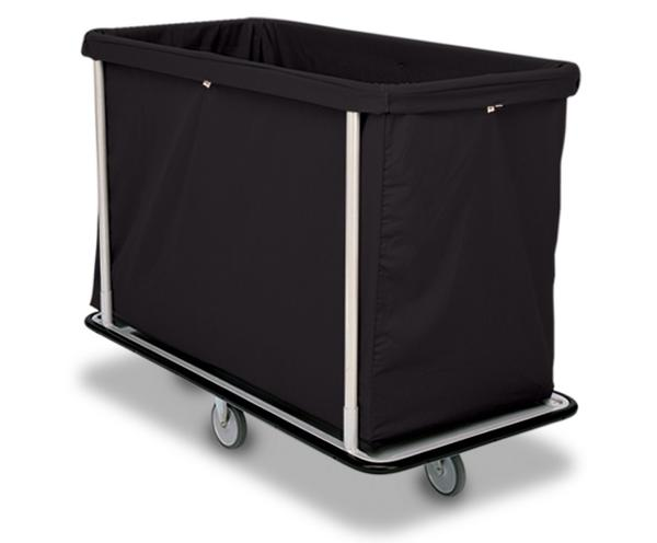 Steel frame hotel laundry cart on wheels