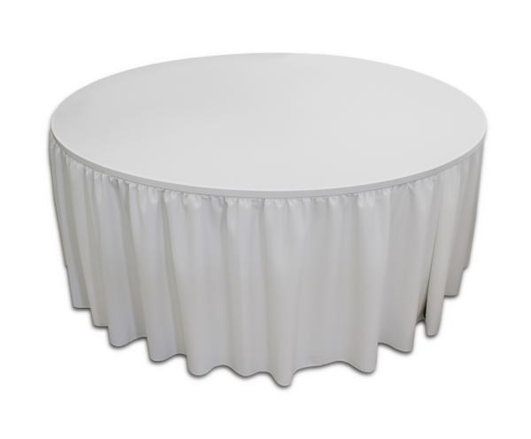 White round table skirting
